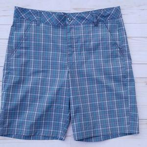 Fila Sport Men's 36 Golf Shorts Plaid blue grey